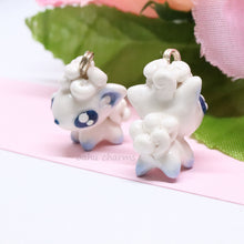 Load image into Gallery viewer, Alolan Vulpix White Arctic Fox Charm