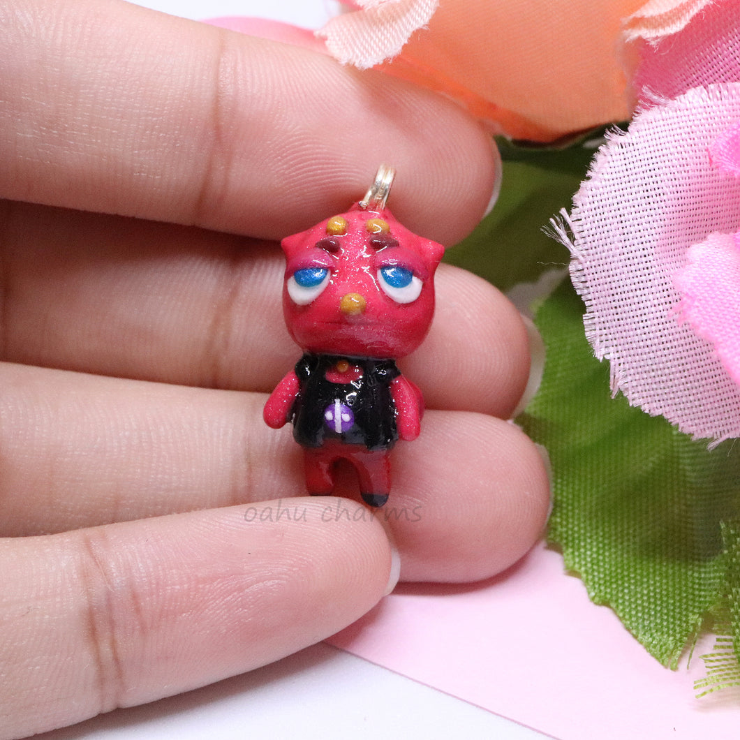 Flick Red Chameleon Charm