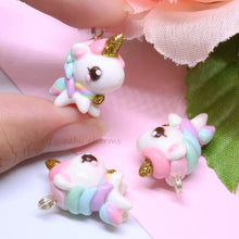 Load image into Gallery viewer, Chubby Pastels Unicorn Charm
