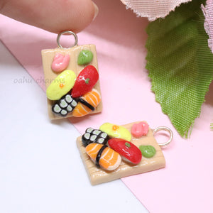 Sushi Platter 4 Piece Charm