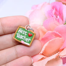 Load image into Gallery viewer, 'Best Teacher' Chalkboard Charm