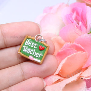 'Best Teacher' Chalkboard Charm