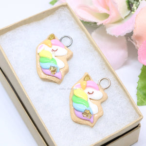 Rainbow Unicorn Cookie Charm