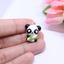 Load image into Gallery viewer, Panda Holding Bamboo Charm