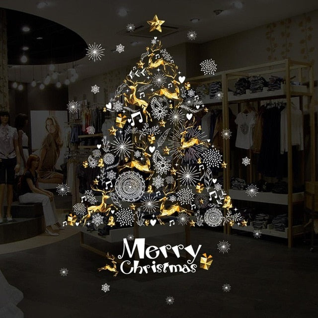 Merry Christmas Removable DIY Wall Stickers for Decoration