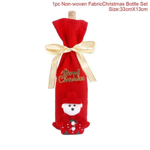 Santa Claus Wine Bottle Cover