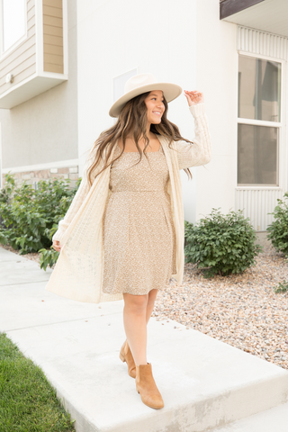Transition summer dress to fall