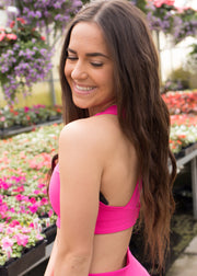 Ace Fuchsia Sports Bra