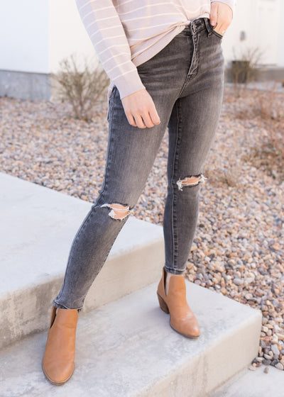 Adelaide Black Distressed Jeans