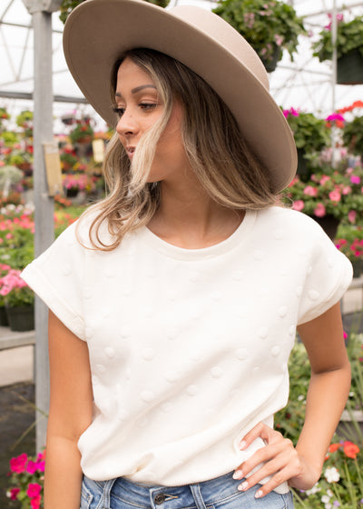 Albany Ivory Textured Top