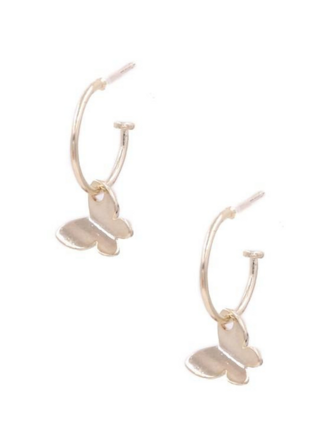 Aria Gold Butterfly Ring Earrings