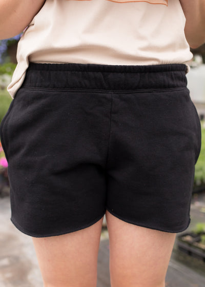 Astra Black Terry Shorts