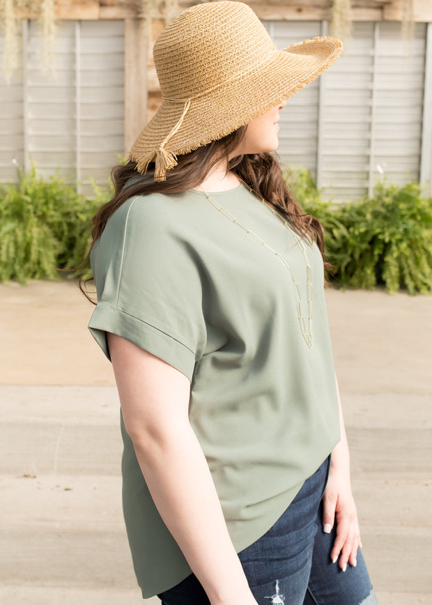 Be You Light Olive Top