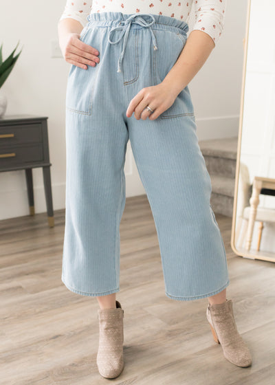 Bella Denim Striped Pants