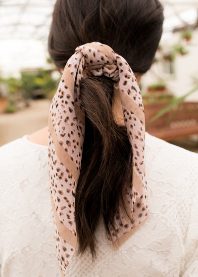 Blushing Leopard Hair Tie