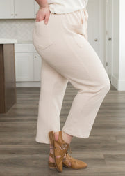 Boston Oatmeal Knit Pants in Curvy
