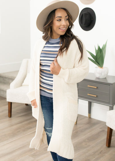 Bundle Up Cream Cardigan