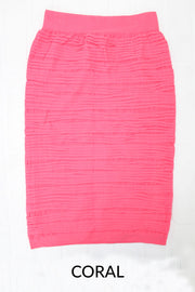 All About Me Textured Skirt