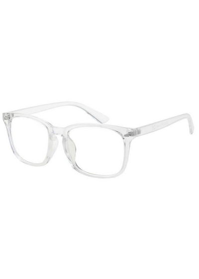 Clear Horn-Rimmed Blue Light Blocker Glasses