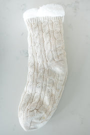 cream sherpa lined sock!