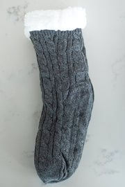 charcoal sherpa lined sock!