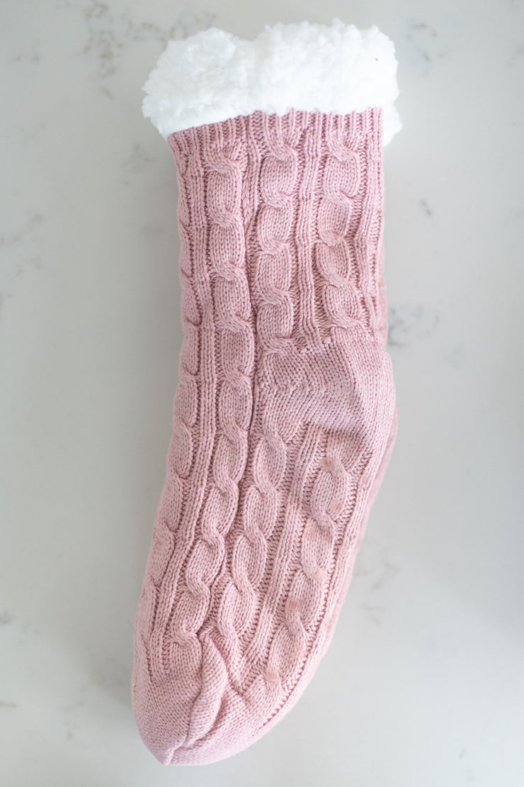 light pink sherpa lined sock!