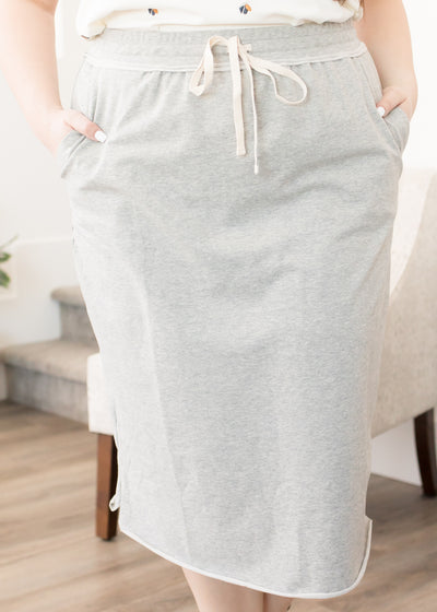 Delta Grey Skirt in Curvy