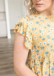 Drops of Sunshine Marigold Floral Top