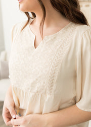 Elizabeth Cream Embroidered Top