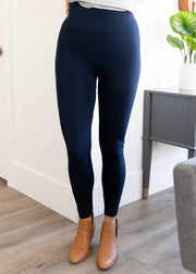 Our navy fleece lined leggings.