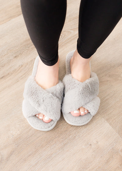 Fuzzy Grey Slides