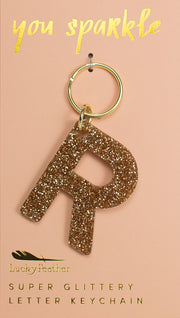 Lucky Feather Glitter Letter