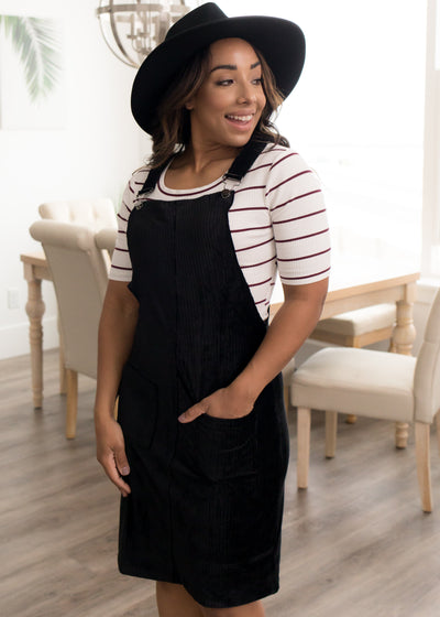 Hartley Black Overall Dress