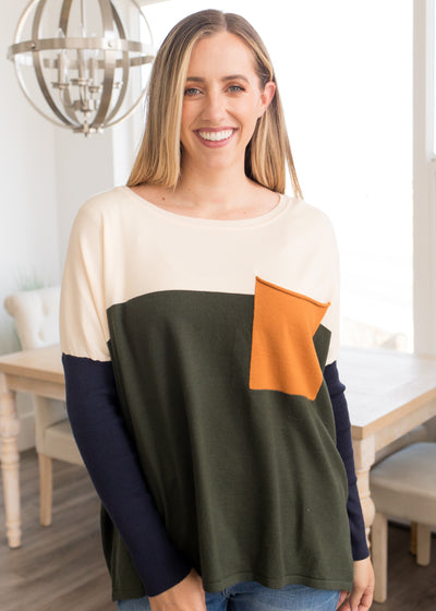 Hold Me Tight Color Block Sweater
