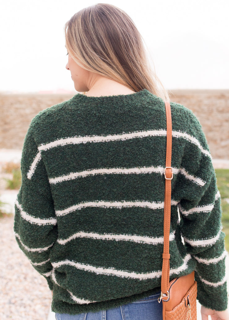 Home Sweet Home Striped Sweater