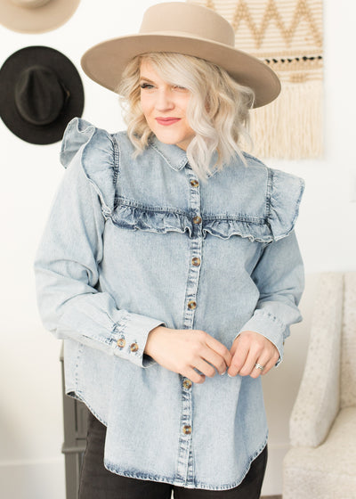 Houston Denim Top
