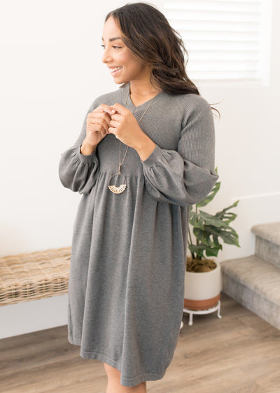 Jaycie Charcoal Sweater Dress