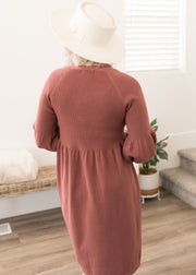 Jaycie Marsala Sweater Dress