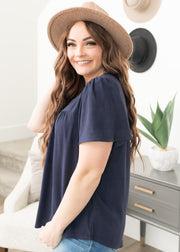 Juliet Navy Top