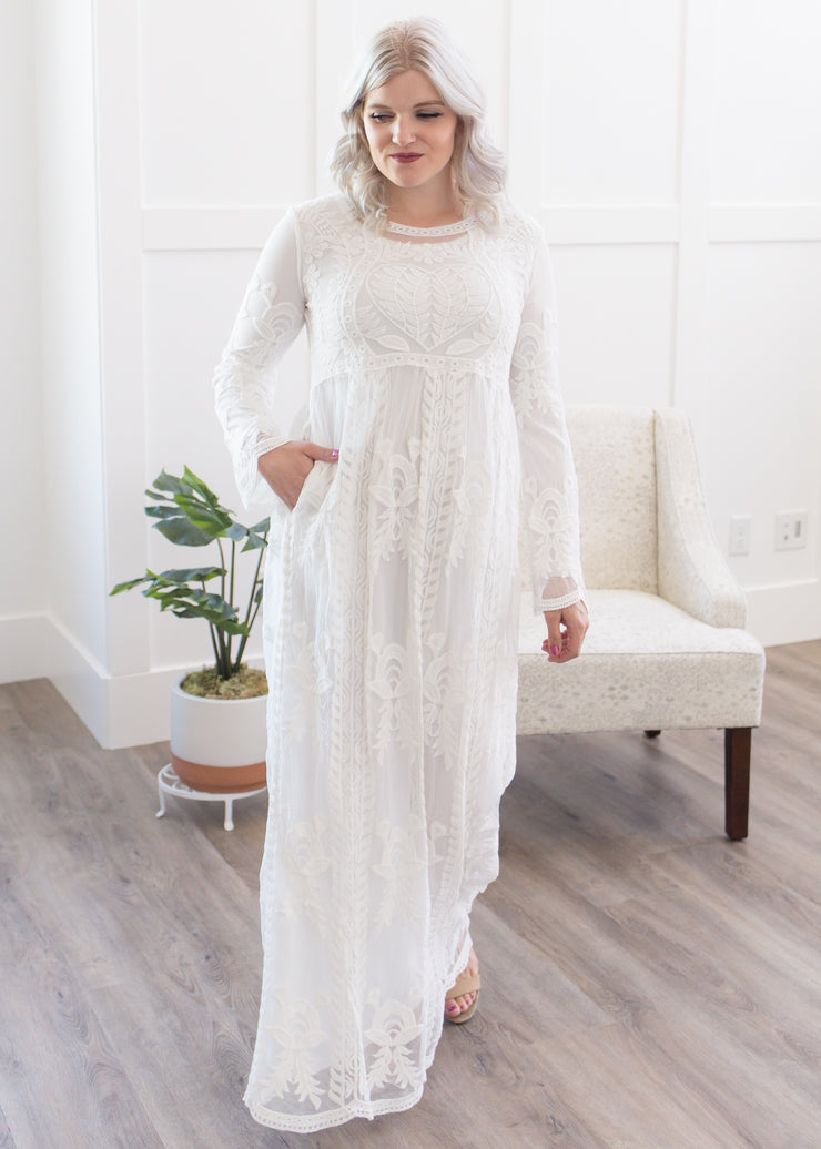 Lovely in Lace Maxi Dress