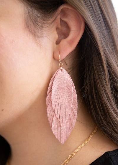 Shimmer Pink Earrings