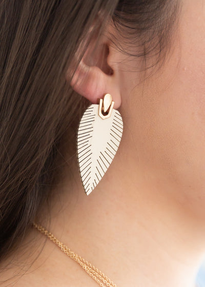 Leaf Love Ivory Earrings