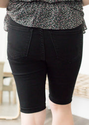 Madelyn Black High Rise Bermuda Shorts