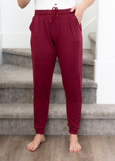 Night Owl Burgundy Joggers