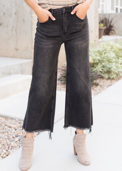 Retro Baby Black Wide Leg Jeans