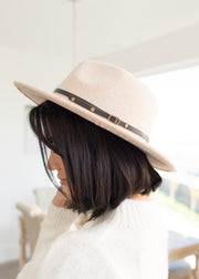 Riley Beige With Black Band Hat