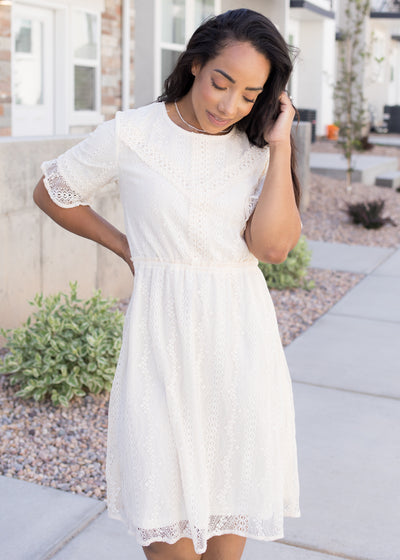 Round And Round Lace Dress
