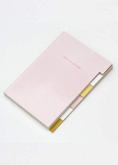 Pretty In Pink Multi Tab Notebook