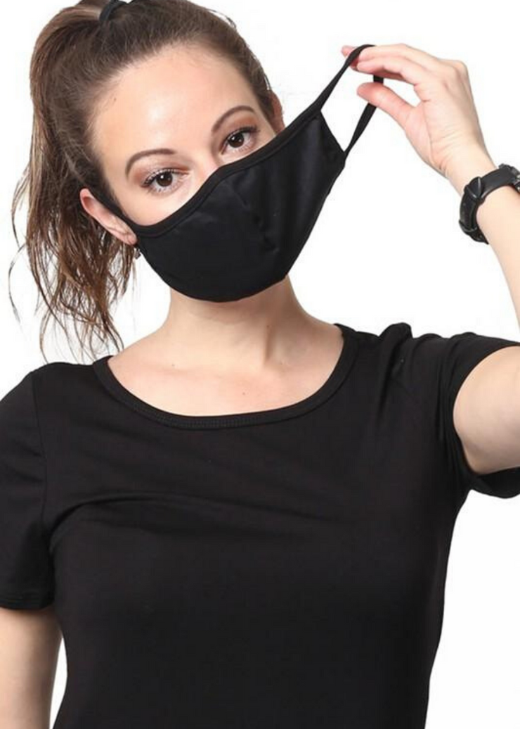 Black Cotton Mask
