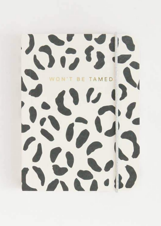 Won't Be Tamed Small Leopard Notebook